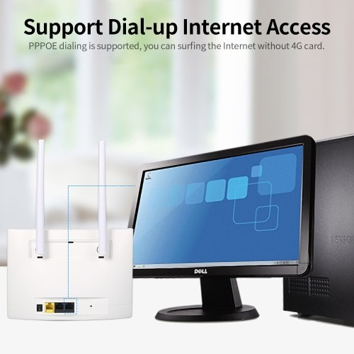 4G LTE Wireless Router 150Mbps High Power CPE Router with SIM Card Slot Strong Signal EU Version