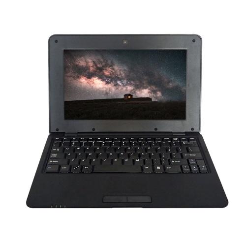 Netbook portatile da 10.1 pollici AZIONI S500 1.5GHz ARM Cortex-A9 / Android 5.1 / 1G + 8G / 1024 * 600 Nero Spina UE