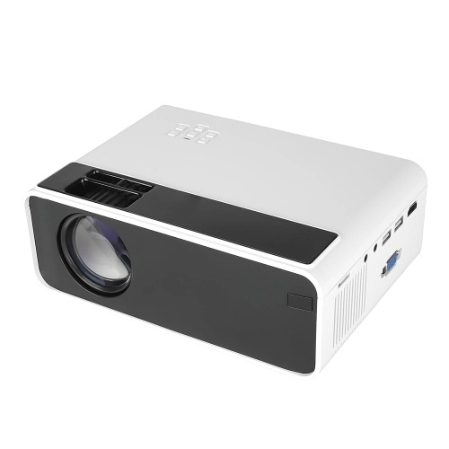 W13 LED Projector Support 1080P Wired Wireless Same Screen for Office Home Theater White EU Plug (Same Screen Version)