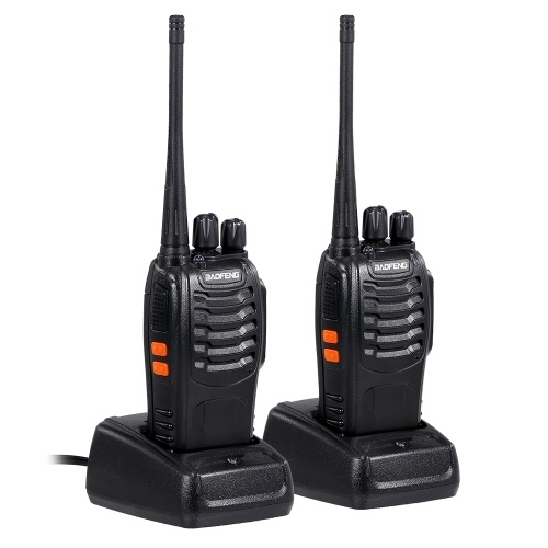 BAOFENG BF-888S UHF 400-470MHz FM Transceiver Two-way Radio Portable Handheld Walkie Talkie Long Distance 2PCS EU Plug