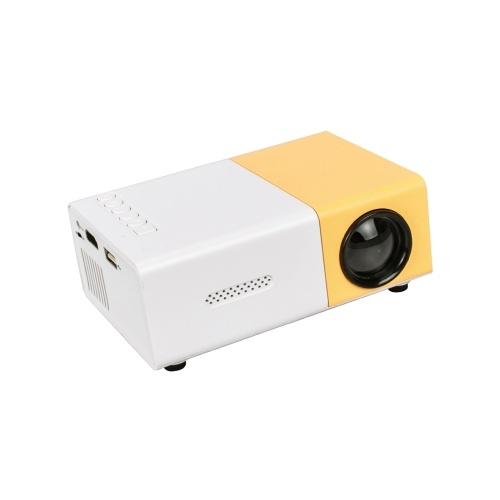 YG300 LED Projector Home Office Mini Portable 1080P Full HD with Remote Control Projector EU Plug