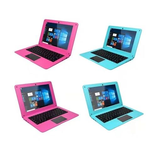 Portable Windows 10 10.1inch Netbook Support TF card with Intel Quad Core Processor/ 2GB+64GB/ Wi-Fi/ BT/ HD Pink EU Plug