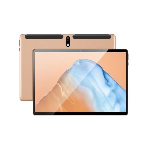 10,1-дюймовый Android-планшет 3 ГБ + 32 ГБ / Восьмиядерный процессор / HD-дисплей IPS / изогнутый экран 2.5D / ОС Android 9.0 / WIFI и BT Gold EU Plug