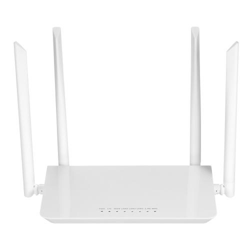 4G LTE CPE WiFi Router Высокоскоростной беспроводной маршрутизатор со скоростью 300 Мбит / с с широким охватом и 4 внешними антеннами Слот для SIM-карты Европейская версия