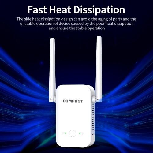 COMFAST CF-WR301S 300M Wireless WiFi Repeater WiFi Signal Amplifier Wireless Signal Booster Wide Coverage 2 Antennas EU Plug
