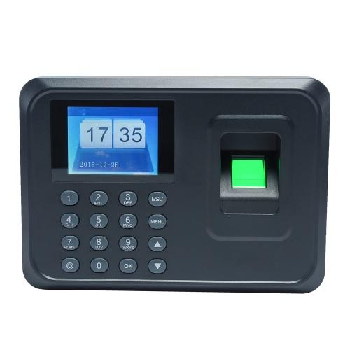 Inteligentny biometryczny linii papilarnych Hasło Obecność Maszyna Pracownik Kontrola rejestrator 2,4-calowy ekran TFT LCD DC 5V Czas Uczestnictwo Zegar