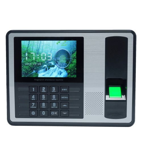 Biometryczny linii papilarnych Hasło Obecność Maszyna Pracownik Kontrola rejestrator 4-calowy ekran TFT LCD DC 5V Czas Uczestnictwo Zegar