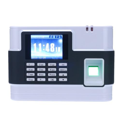 Check-in biométrico de impressão digital senha Presença Máquina Employee TCP / IP Recorder tela LCD de 2,8 polegadas DC 9V tempo presenças relógio