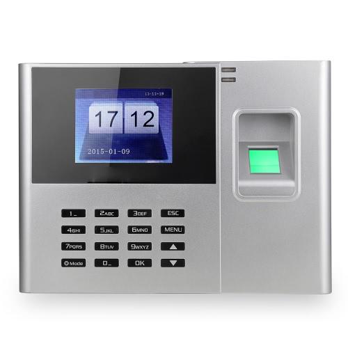 Sprawdzanie rejestrator 2,8-calowy ekran TFT LCD DC 5V Czas Uczestnictwo Zegar biometryczny linii papilarnych Hasło Obecność Maszyna Pracownik