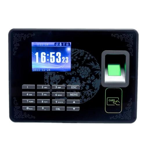 Biometric Fingerprint Password Attendance Machine Employee Checking-in Recorder TCP/IP 2.8 inch LCD Screen DC 5V Time Attendance Clock