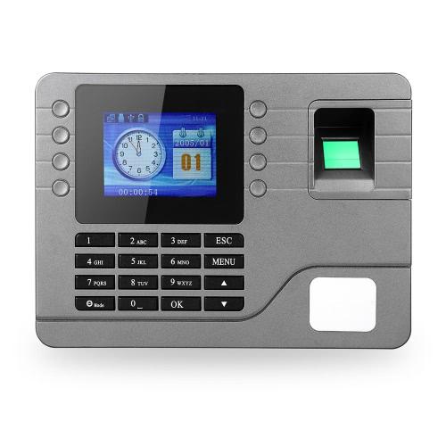Sprawdzanie rejestrator 2,8-calowy ekran LCD DC 9V Czas Uczestnictwo Zegar biometryczny linii papilarnych Hasło Obecność Maszyna Pracownik