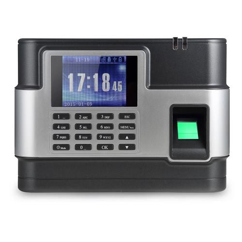 Kontrola w biometryczny linii papilarnych Hasło Obecność Maszyna Pracownik Recorder TCP / IP, 2,8-calowy ekran LCD DC 5V Czas Uczestnictwo Zegar