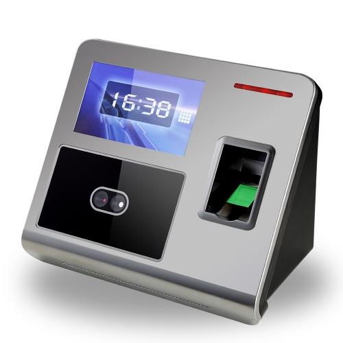 Rosto Fingerprint senha Presença Máquina Employee check-in Payroll Recorder TCP / IP de 4,3 polegadas HVGA Tela DC 12V Reconhecimento Facial comparecimento do Relógio