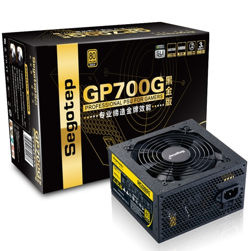 Segotep 600W GP700G ATX PC Computer Power Supply Gaming PSU 12V Active PFC 93% Efficiency 80Plus Gold Universal AC Input 100-240V