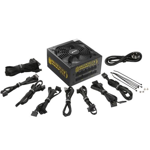 Segotep 600W GP700G Full Modular ATX PC Computador Alimentação Gaming PSU 12V Active PFC 91% Eficiência 80Plus Gold Universal AC Entrada 100-240V