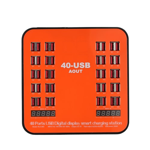 200w 40-port usb wall charger