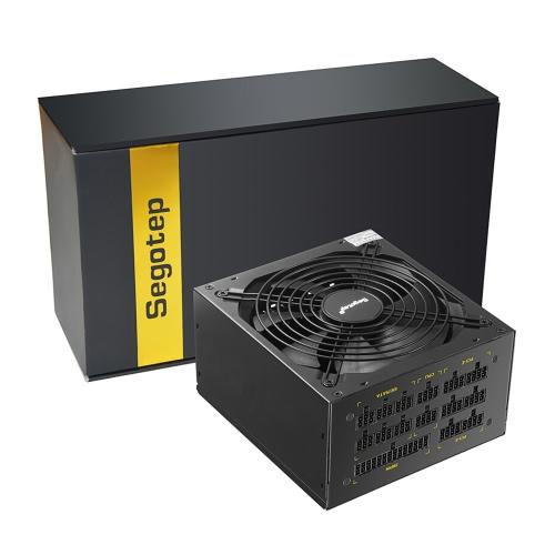 Segotep 1250W GP1350G Pełny modułowy komputer ATX Zasilanie komputerowe dla komputerów eksploatacyjnych Zasilacz do gier dla AMD Crossfire Active PFC 93,8% sprawności 80Plus Gold