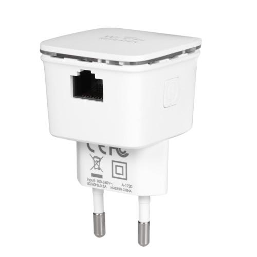 N300 WiFi AP / Repeater Wireless Range Extender Ponto de acesso Signal Booster 2.4GHz 300Mbps com duas antenas integradas Plugue montado na parede nos EUA