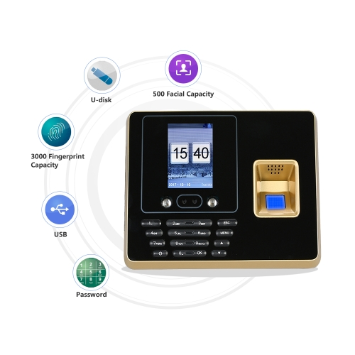 Biometric Fingerprint Attendance Machine TCP-IP 2.8inch Color Screen Employee Checking-in Recorder