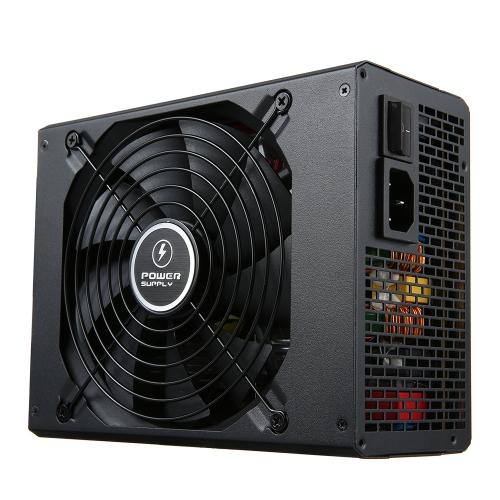 750W ATX12V V2.31 Active PFC Computer Power Supply com ventilador de baixo ruído de 120mm