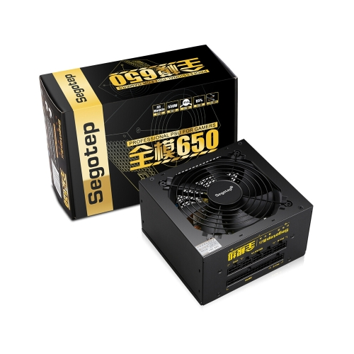 Segotep 550W Full Modular Active PFC ATX Gaming Power Supply with Low Noise 120mm Fan