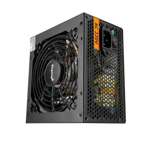 Segotep 550W Full Modular Active PFC ATX Gaming Fonte de alimentação com 120mm Low Noise LED Fan