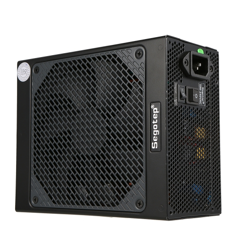 Segotep Gaming 80 Plus Platinum KL-850W Zasilacz z wentylatorem o niskim poziomie hałasu i automatyczną regulacją prędkości wentylatora