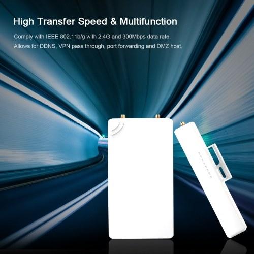 300Mbps Wireless WiFi Signal Extender Network Antenna Signal Amplifier 802.11n/b/g Signal Booster High Power 2.4GHz Outdoors EU Plug