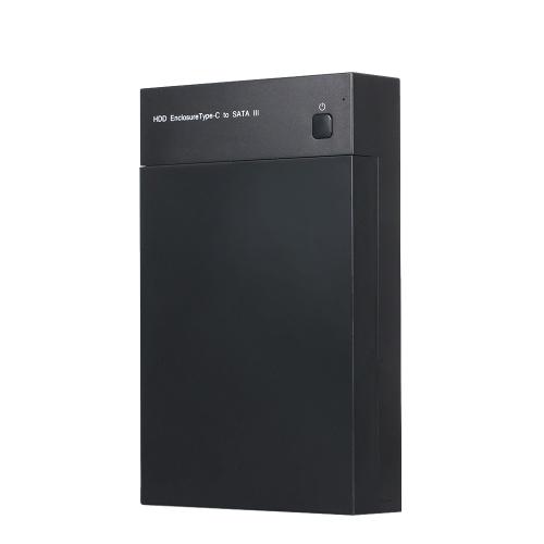 Корпус жесткого диска USB3.1 Type-C для док-станции для жесткого диска для 2,5 / 3,5-дюймового жесткого диска SSD для ТВ / компьютера / PS4 фото