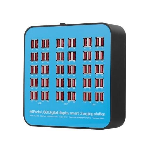 Estación de carga inteligente con 60 puertos Muelle de carga USB de la estación de carga de compatibilidad universal para uso familiar y de oficina
