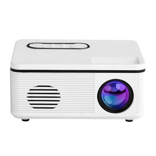 1080P Mini HD Projector Portable LED Light USB AV Port For Office Home Theater Outdoor EU Plug