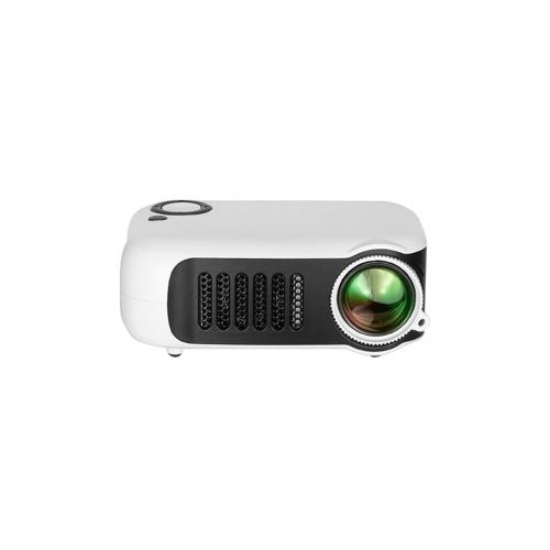 Мини Портативный проектор 1080P ЖК-дисплей 50 000 часов Лампа Life Home Домашний кинотеатр Видеопроектор Легкий и поддерживающий блок питания для ТВ-бокса / XBOX / TF-карты / U-диска (белый) Штекер EU