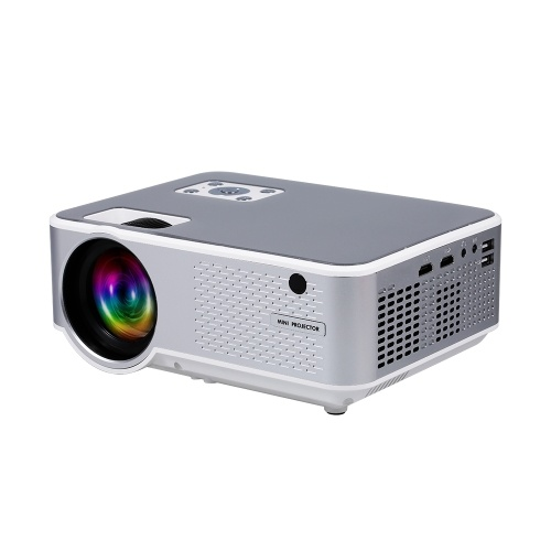 720p proyector LED luz USB HDMI AV VGA puerto para Office Home Theater juego enchufe de la UE