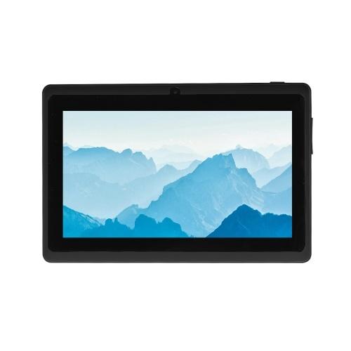 Q8 Mali-400 MP2 7 pulgadas Quad-core 1.3GHZ Tablet PC 3G Wifi Computadora de negocios Android 4.4 OS Negro Enchufe de la UE