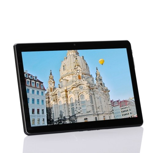 KT107 Quad Core 10.1inch Metal Tablet PC Thin Business Computer Android OS IPS Touch Screen 1280*800 Black EU Plug