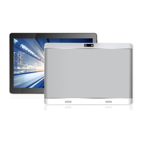 KT107 Quad Core 10.1inch Metal Tablet PC Thin Business Computer Android OS IPS Touch Screen 1280*800 Silver EU Plug