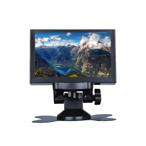 S501H Mini 5inch Monitor 5CH VGA/BNC/AV/HD/Ypbpr LCD Display Screen 800 * 480  Cross Line for DVR, DVD, PC, CCD, CCTV, Camera EU Plug