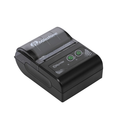 MHT-P10 Impresora de recibos térmica Mini USB + Bluetooth Control de teléfono de 48 mm para Android, máquina de impresión IOS Enchufe de la UE