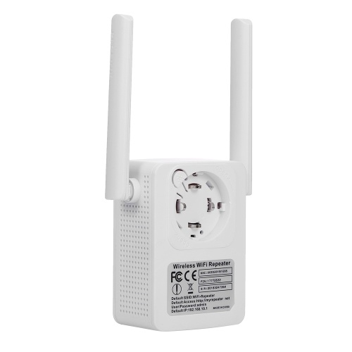 WR13 WIFI Repeater Wireless WiFi Range Extender Booster 300Mbps Router WIFI Signal Booster 2 Antennas EU Plug