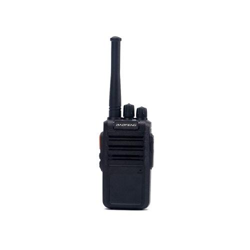 BAOFENG BF-M4 Ricetrasmettitore FM UHF 5W Interphone portatile 400-470MHz 16CH Supporto radio portatile a due vie Lungo raggio di comunicazione Lungo tempo di standby Voce chiara Walkie Talkie Nero Spina UE