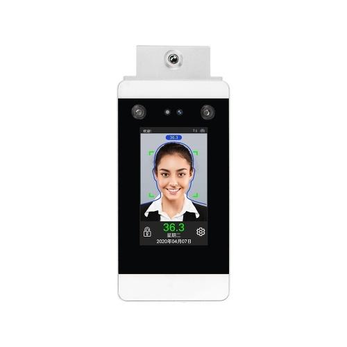 DT20W 4.3 pollici misurazione della temperatura a infrarossi Face Dynamic PalmPrint Riconoscimento Terminale Sistema di controllo accessi Face Password Presenze Macchina Touch Screen Videocamera HD Spina UE