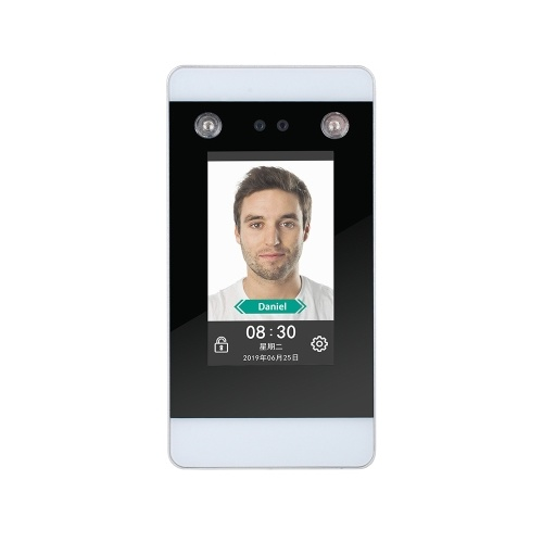 DT20 4.3inch Infrared Dual HD Camera Face Dynamic Recognition Access Control System Face Password Attendance Machine Touch Screen EU Plug