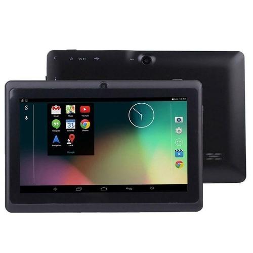 Q88 7-дюймовый четырехъядерный планшет Business Tablet с системой Android4.4 1024 * 600 Разрешение 512 МБ + 8 ГБ Черный штекер ЕС
