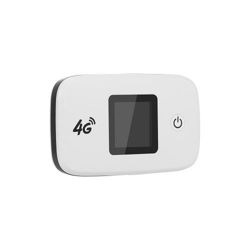 Enrutador inalámbrico 4G LTE Enrutador Wifi portátil con ranura para tarjeta SD SIM Pantalla a color TFT de 1,44 pulgadas Batería de 2400 mAh Versión de la UE