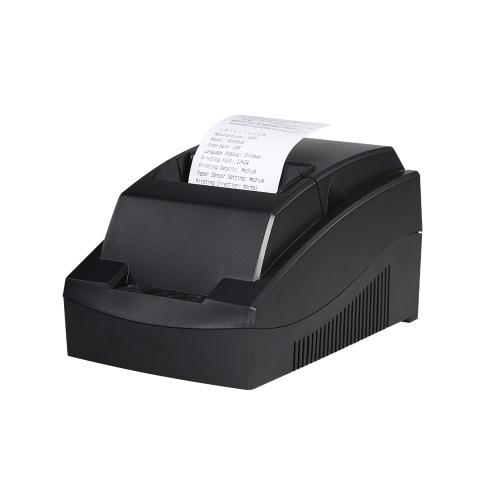 Impressora Térmica portátil Impressora POS 58mm Impressora de Recibos Térmica Restaurante Impressora de Recibos de Supermercado Plugue DA UE