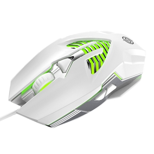 Mouse with USB Chargeing Port Design Ergonomic Optical 7 Colors Changeing Illuminated Mouse 4 Levels DPI Metal Base Deisgn for Laptop Computers E-sports Portable