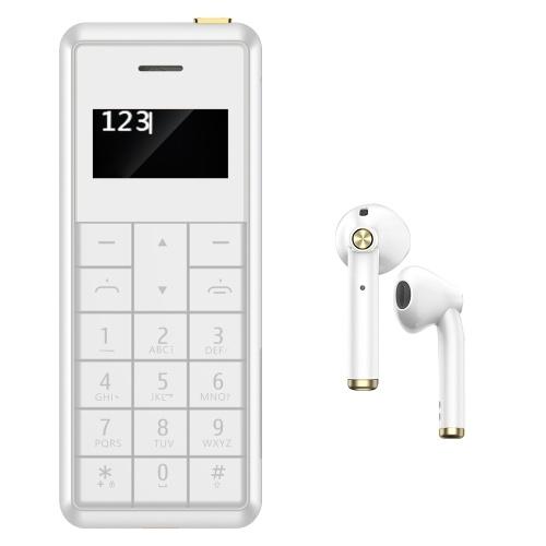 BM002 Wireless BT Headset Mini Tragbarer Stereo-Kopfhörer Unterstützung Sprachanruf & Musik Spielen Sie ein kleines Telefon mit Headset-Ladebox Weiß