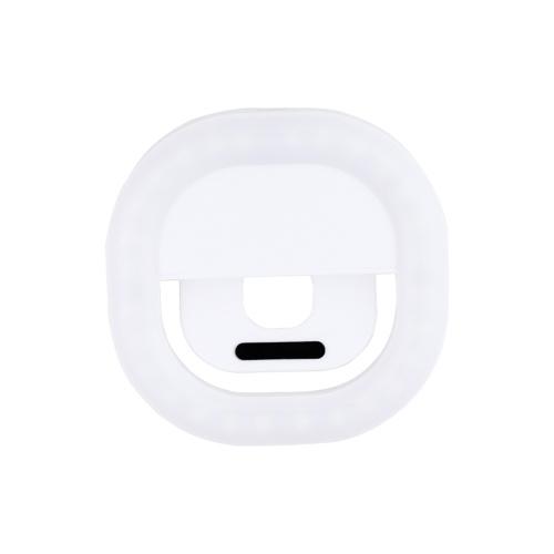 Zusatzlichtlampe Wiederaufladbares Mobiltelefon Selfie Light Ring-Zusatzlichtleuchte für Mobiltelefon Weiß