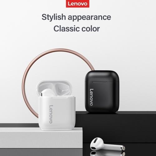 Lenovo LP2 TWS Wireless BT Headphone Semi-in-ear Sports Earbuds Waterproof Sweatproof Earphone ENC Noise Reduction White