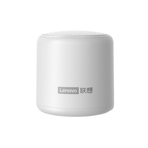 Falante BT sem fio Lenovo L01 Alto-falante estéreo sem fio portátil Suporte para reprodutor de áudio HD Voice Call Life à prova d'água branco